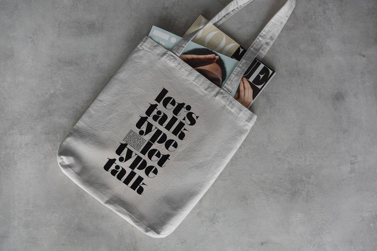 23款时尚生活方式手提帆布袋设计样机模板素材合集 Canvas Tote Bag Mockup Lifestyle插图(14)