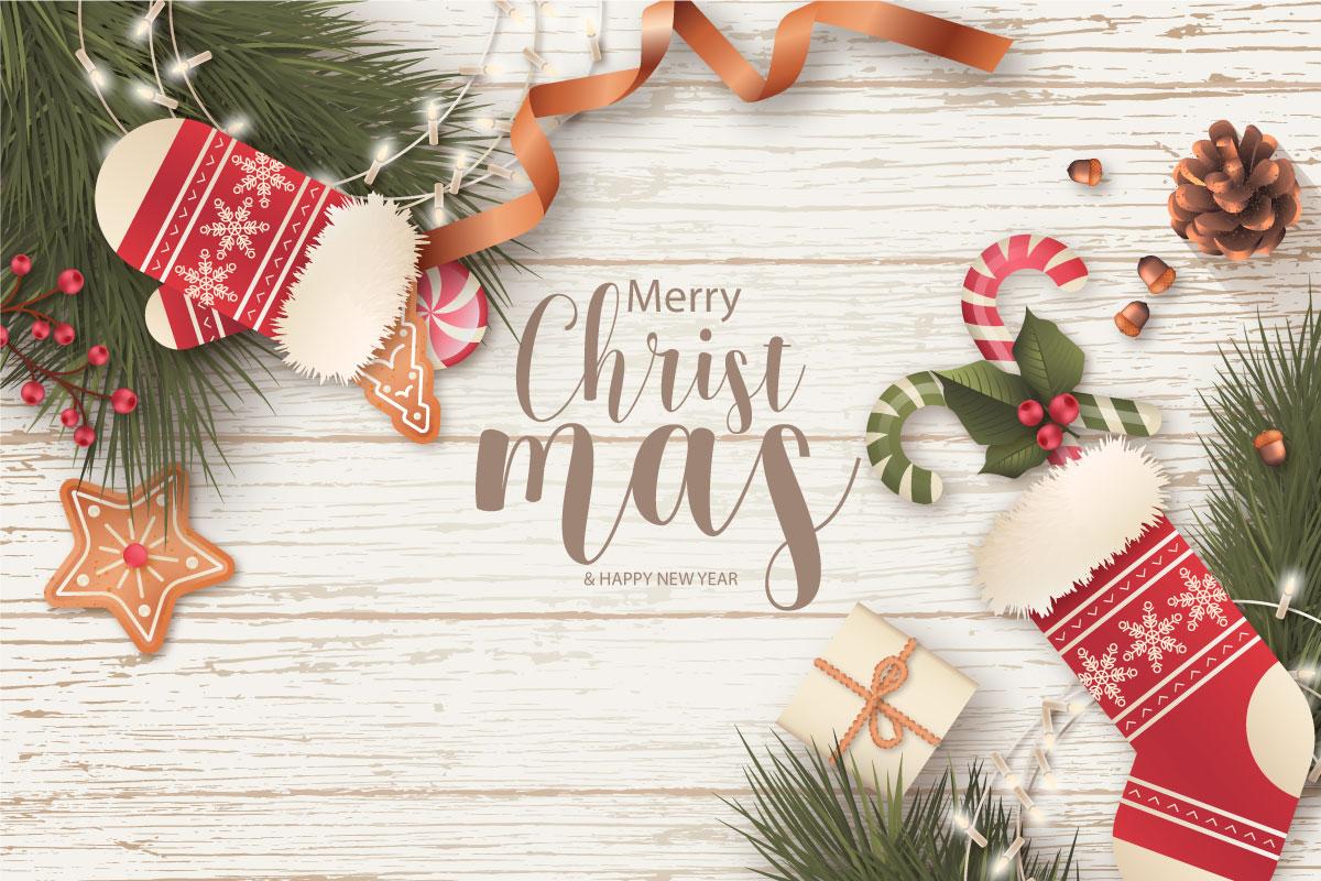 优雅可爱圣诞节主题元素设计矢量素材包 Elegant and Lovely Christmas Backgrounds Set插图(1)