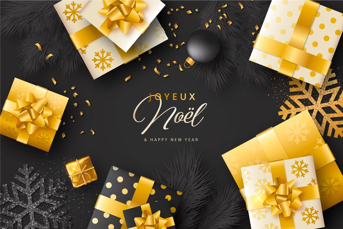 优雅可爱圣诞节主题元素设计矢量素材包 Elegant and Lovely Christmas Backgrounds Set插图