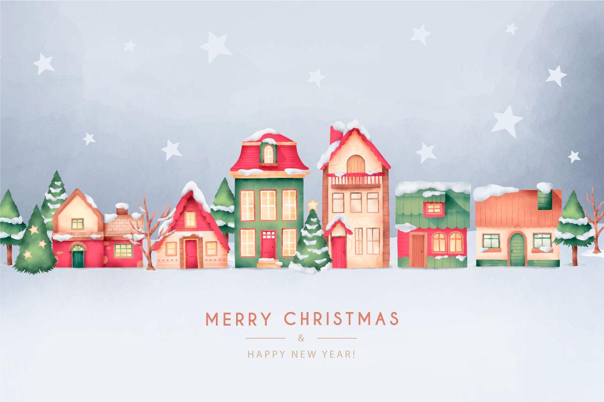 优雅可爱圣诞节主题元素设计矢量素材包 Elegant and Lovely Christmas Backgrounds Set插图(29)