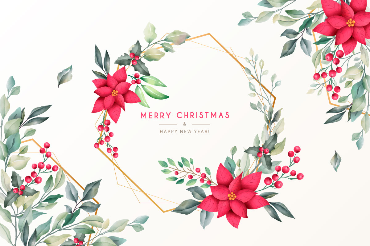 优雅可爱圣诞节主题元素设计矢量素材包 Elegant and Lovely Christmas Backgrounds Set插图(26)