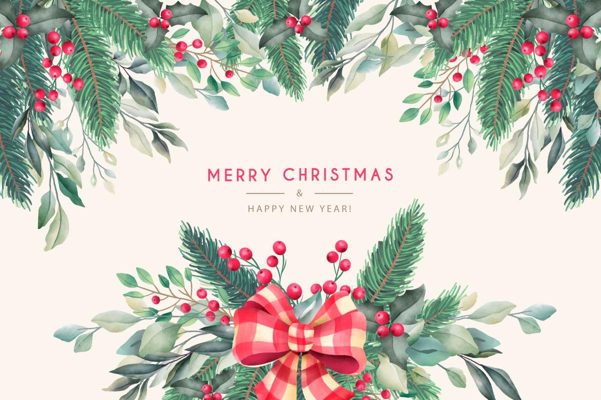 优雅可爱圣诞节主题元素设计矢量素材包 Elegant and Lovely Christmas Backgrounds Set插图(24)