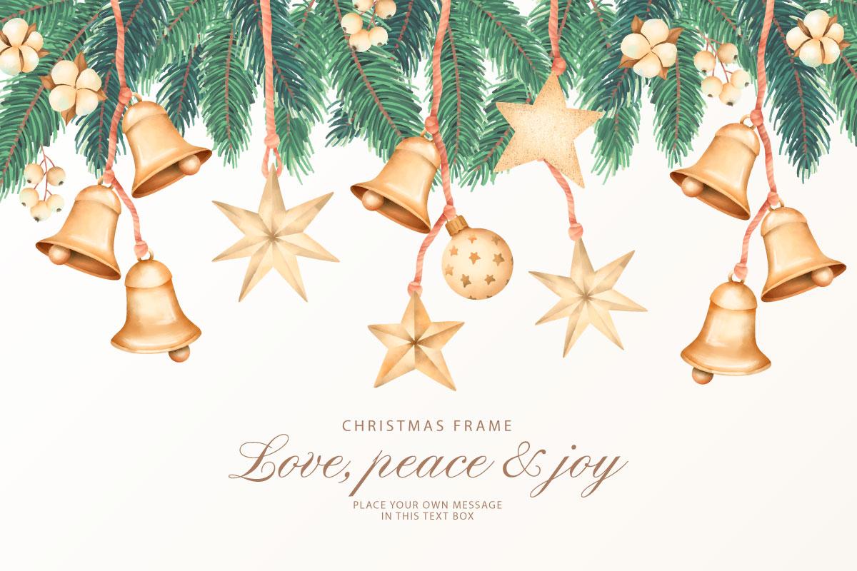 优雅可爱圣诞节主题元素设计矢量素材包 Elegant and Lovely Christmas Backgrounds Set插图(19)
