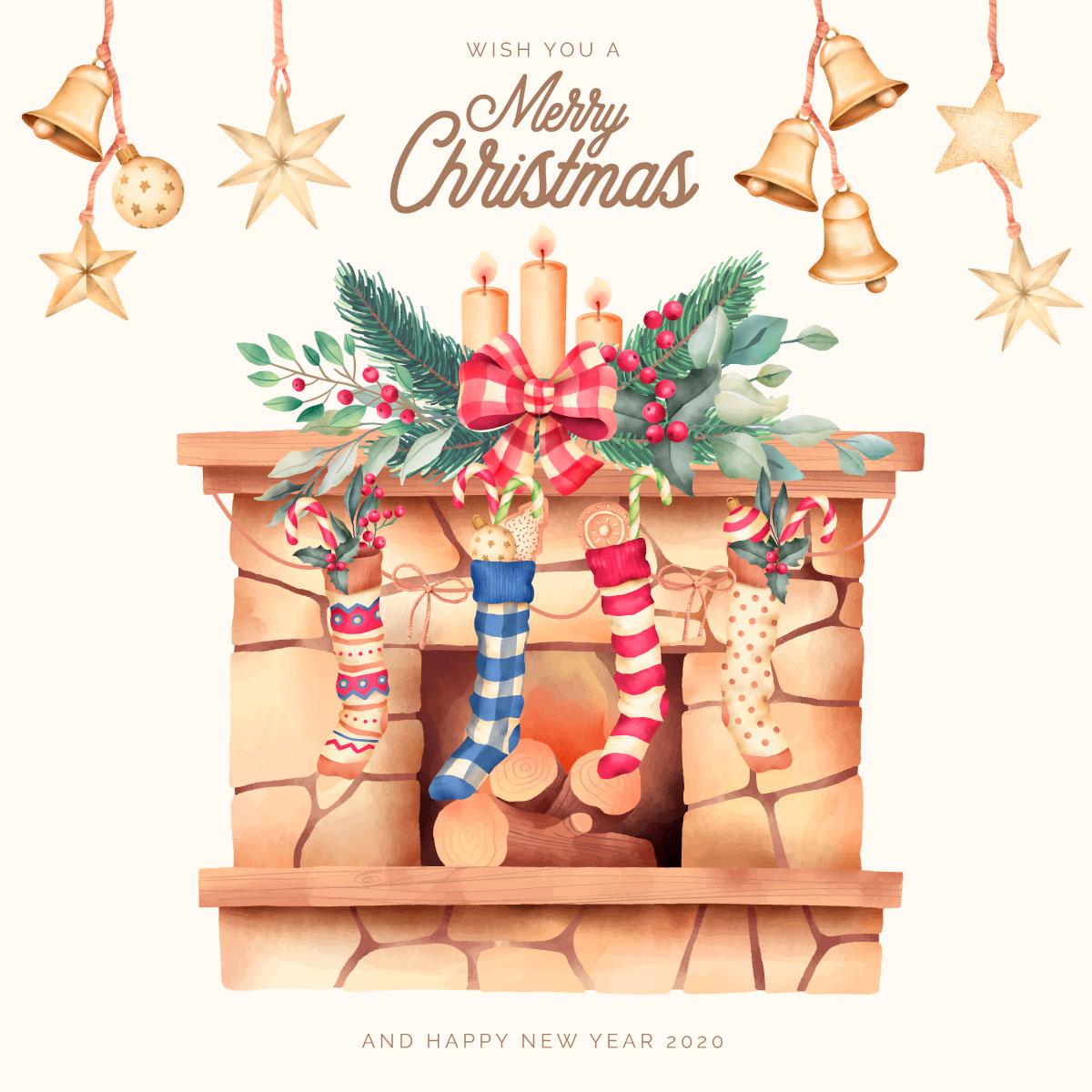 优雅可爱圣诞节主题元素设计矢量素材包 Elegant and Lovely Christmas Backgrounds Set插图(16)