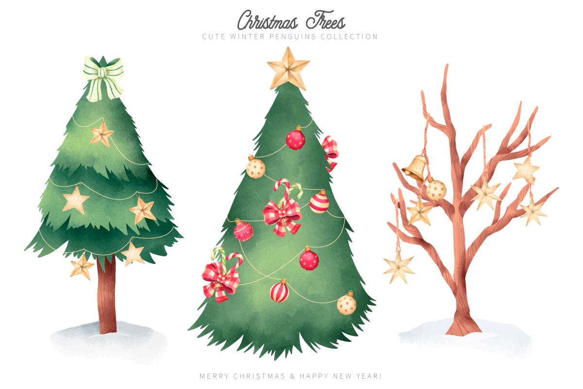 优雅可爱圣诞节主题元素设计矢量素材包 Elegant and Lovely Christmas Backgrounds Set插图(15)