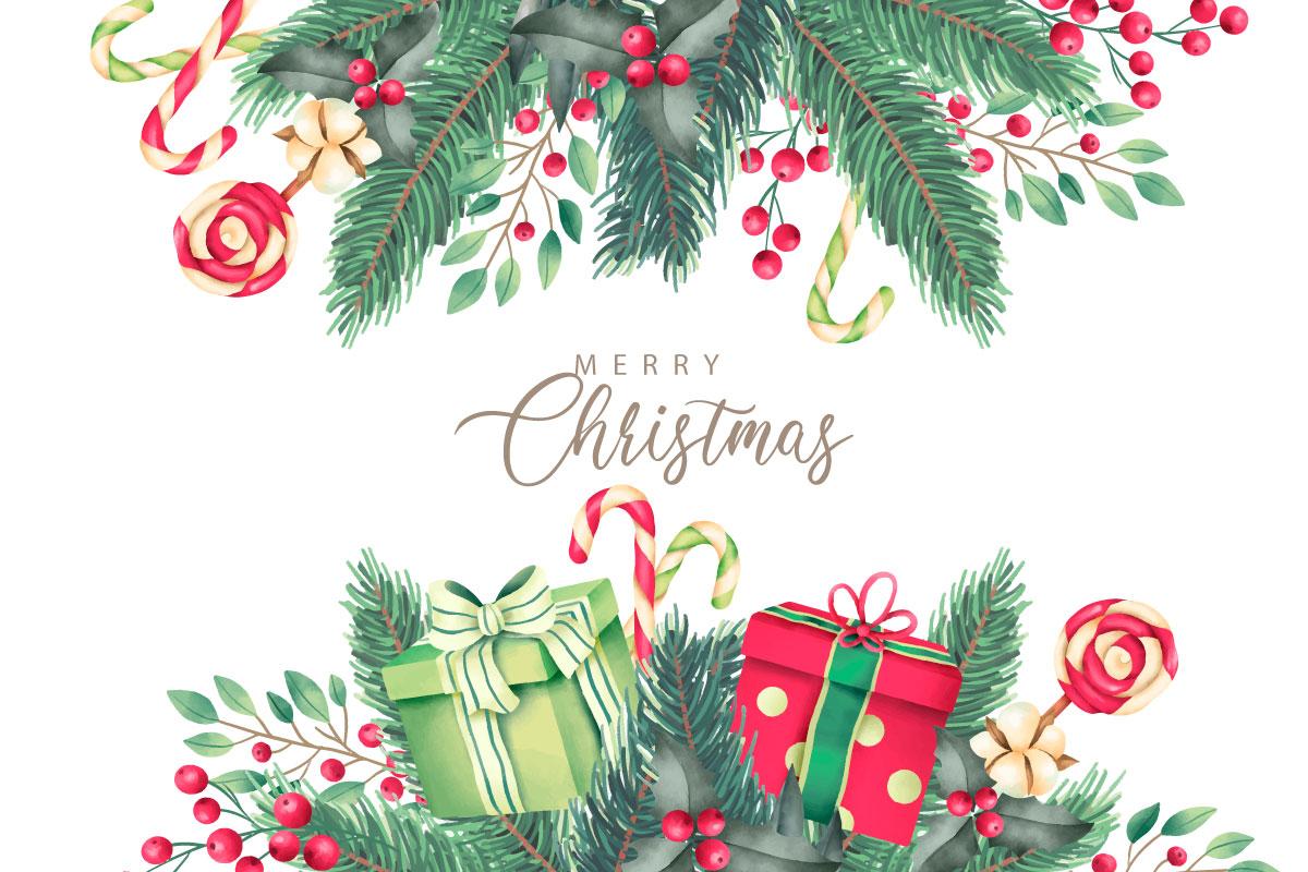 优雅可爱圣诞节主题元素设计矢量素材包 Elegant and Lovely Christmas Backgrounds Set插图(11)
