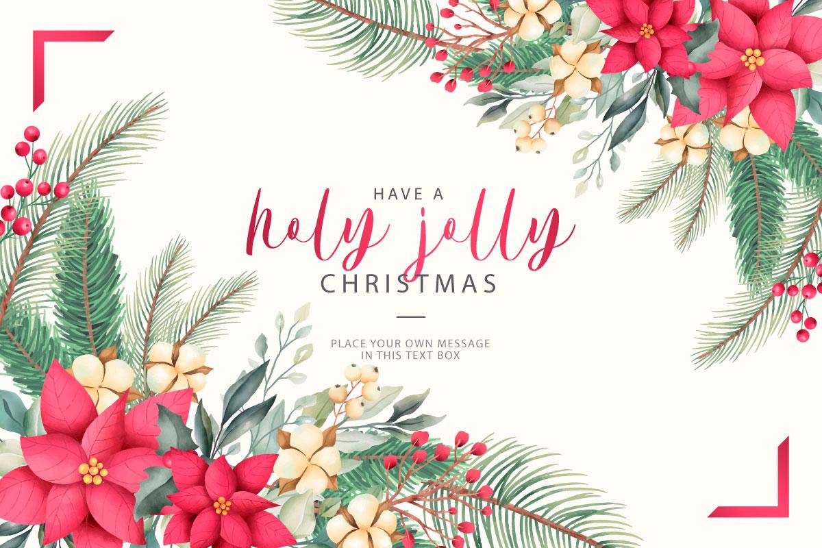 优雅可爱圣诞节主题元素设计矢量素材包 Elegant and Lovely Christmas Backgrounds Set插图(9)