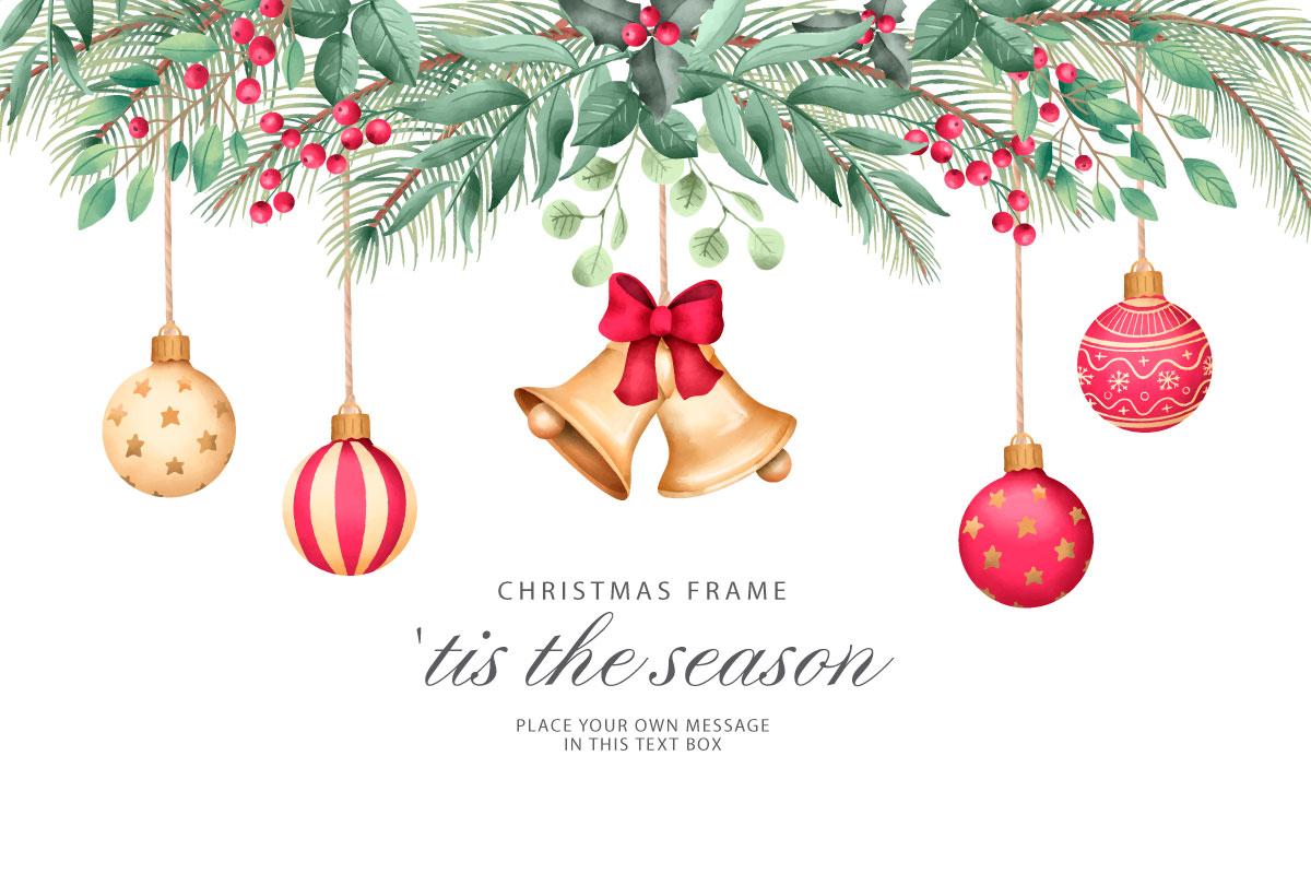 优雅可爱圣诞节主题元素设计矢量素材包 Elegant and Lovely Christmas Backgrounds Set插图(6)