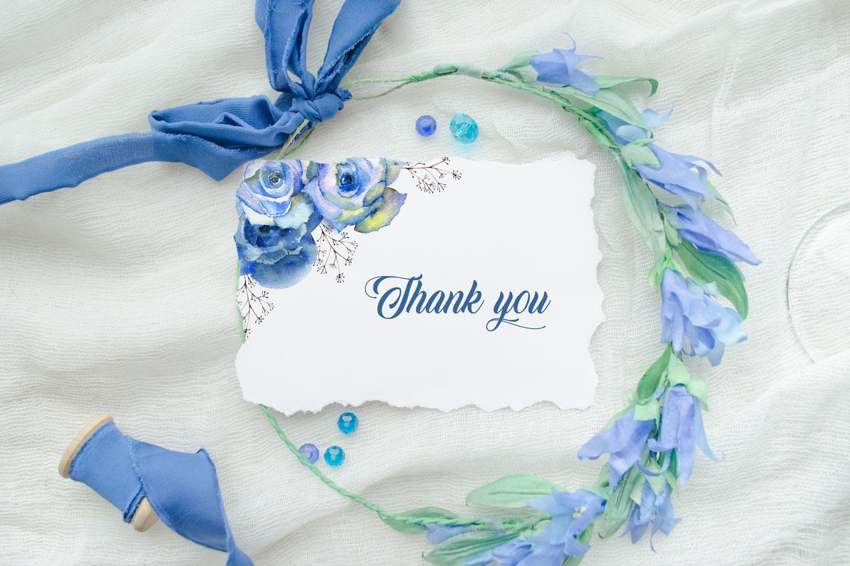 浪漫情人节手绘蓝色水彩玫瑰花剪贴画设计素材 Blue Roses. Watercolor Illustrations插图(2)