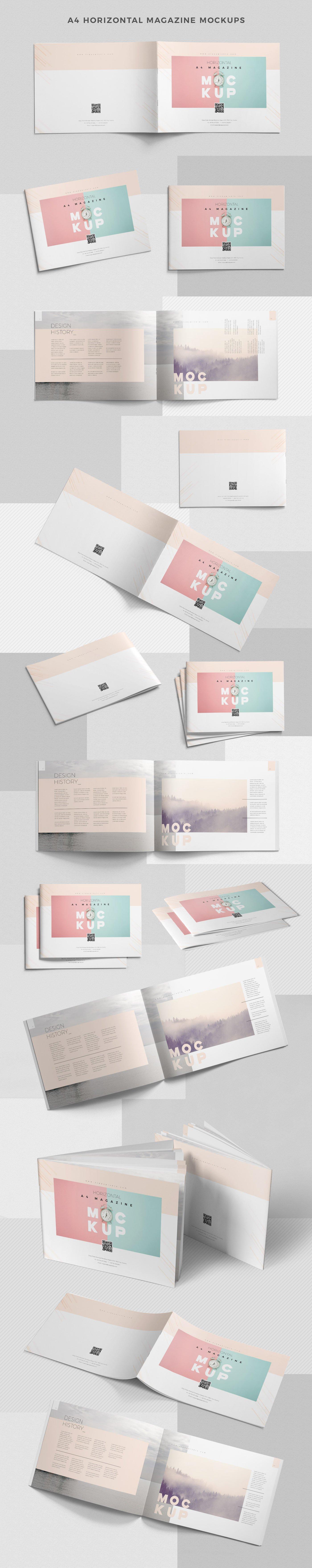 43款画册杂志设计展示效果图样机模板 43 Magazine Mockups Bundle插图(6)