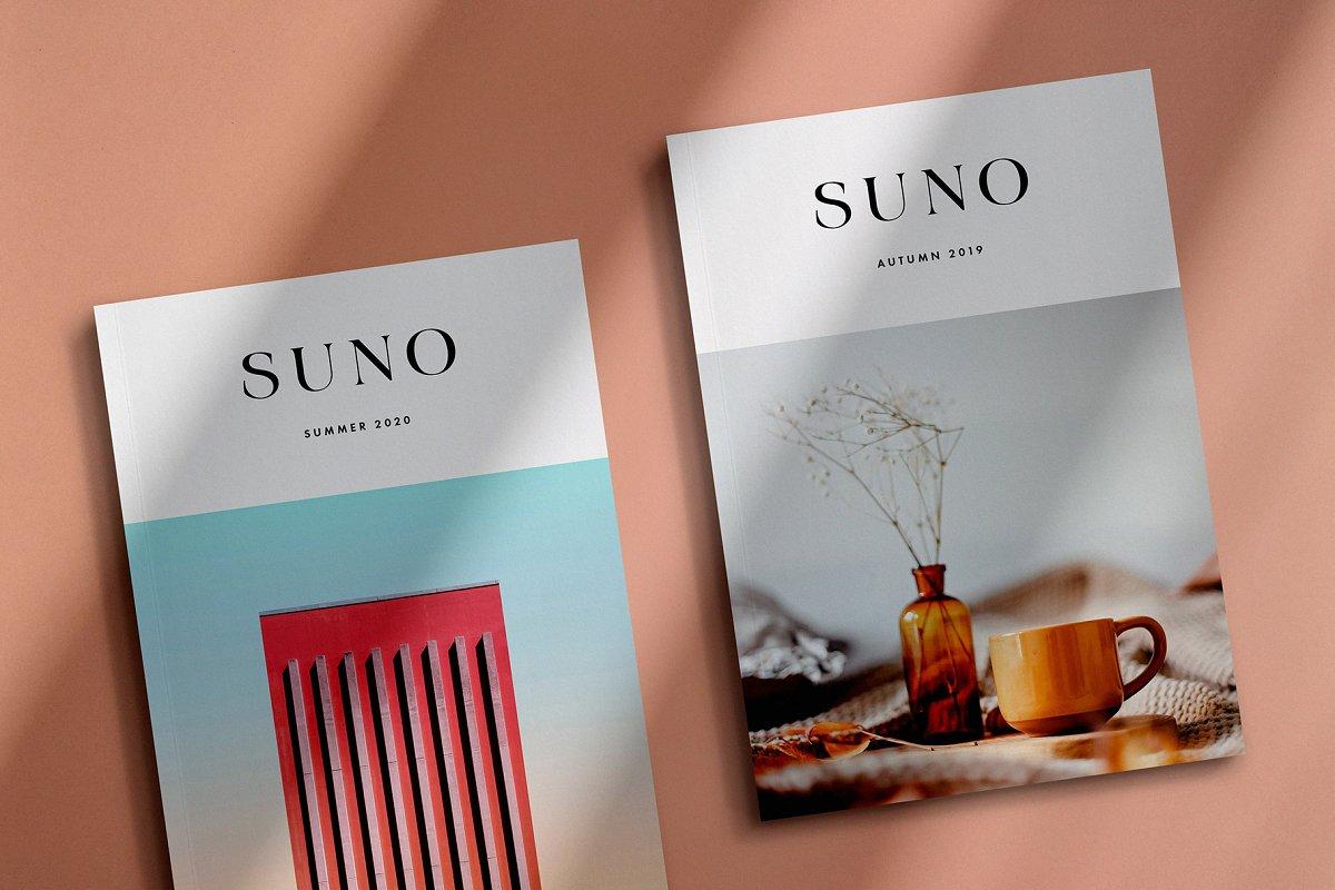 画册杂志设计效果图展示样机PSD模板 Suno Magazine Mockup Kit插图(2)