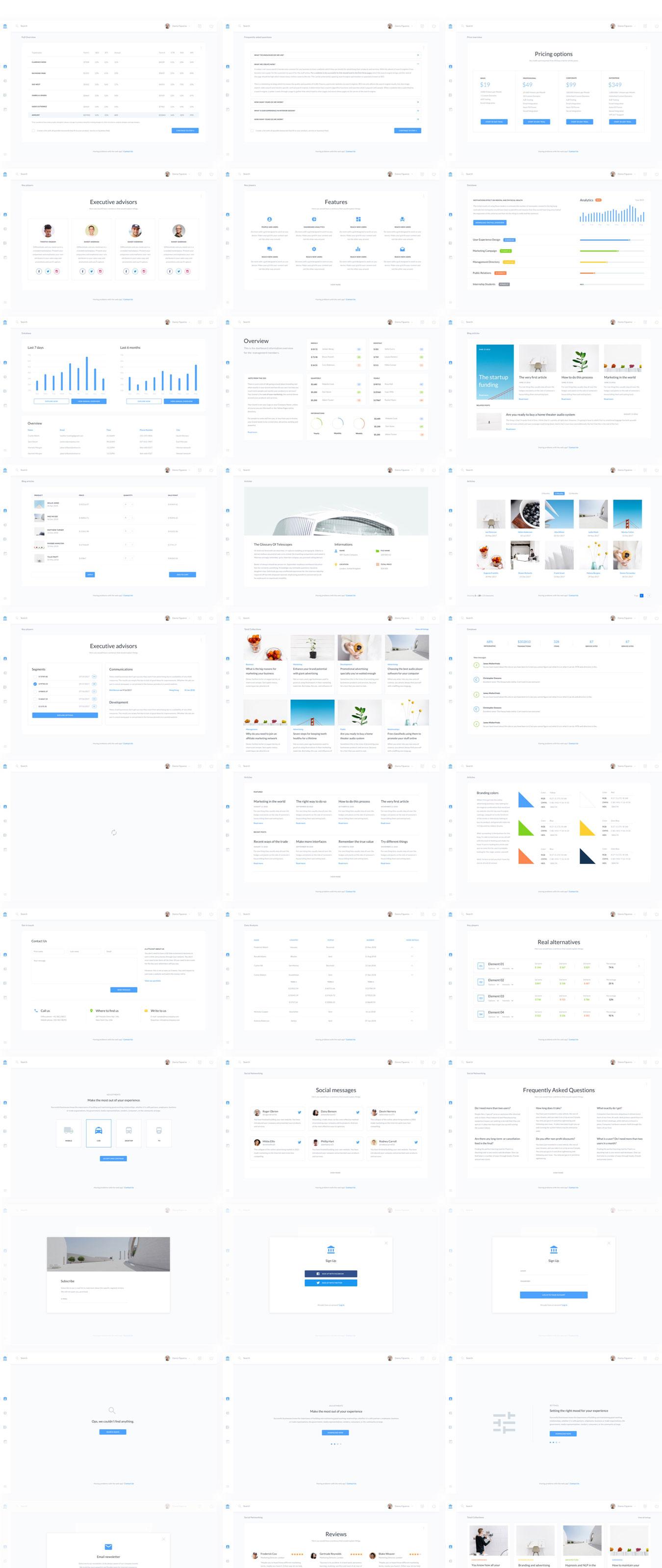 用户管理信息系统界面设计WEB UI模板素材 B2C Dashboards UI Kit插图(9)