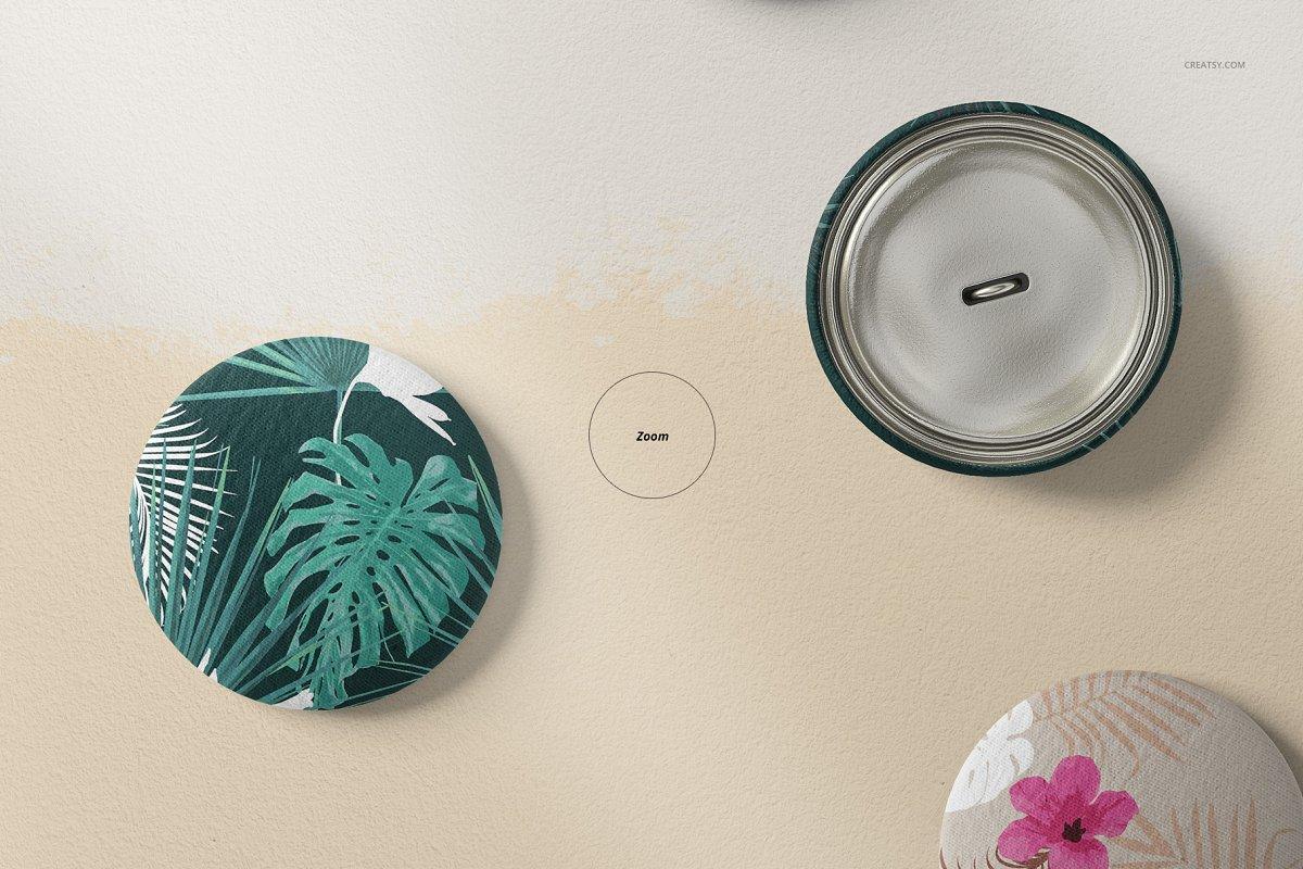 纺织品服装纽扣设计样机模板 Fabric Buttons Mockup 60/FF v.6插图(4)