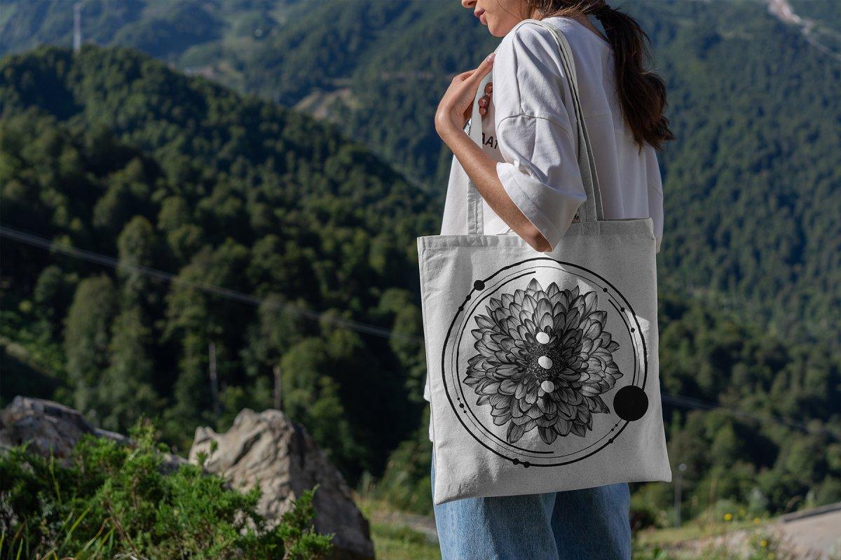 23款时尚生活方式手提帆布袋设计样机模板素材合集 Canvas Tote Bag Mockup Lifestyle插图(3)