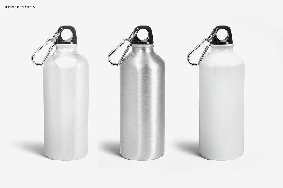 铝质金属水瓶设计PSD样机模板 Aluminium Water Bottle Mockup Set插图(4)
