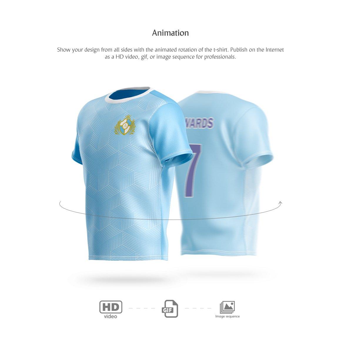 T恤设计360°旋转效果图样机模板 T-Shirt Animated Mockup插图(2)