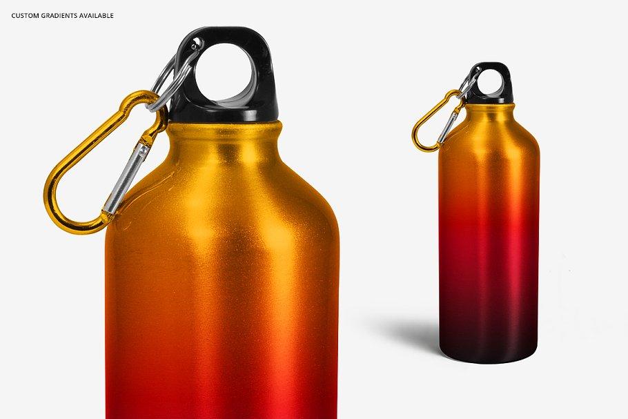 铝质金属水瓶设计PSD样机模板 Aluminium Water Bottle Mockup Set插图(6)