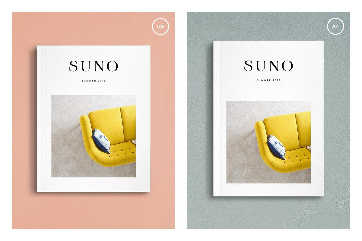 画册杂志设计效果图展示样机PSD模板 Suno Magazine Mockup Kit插图(6)
