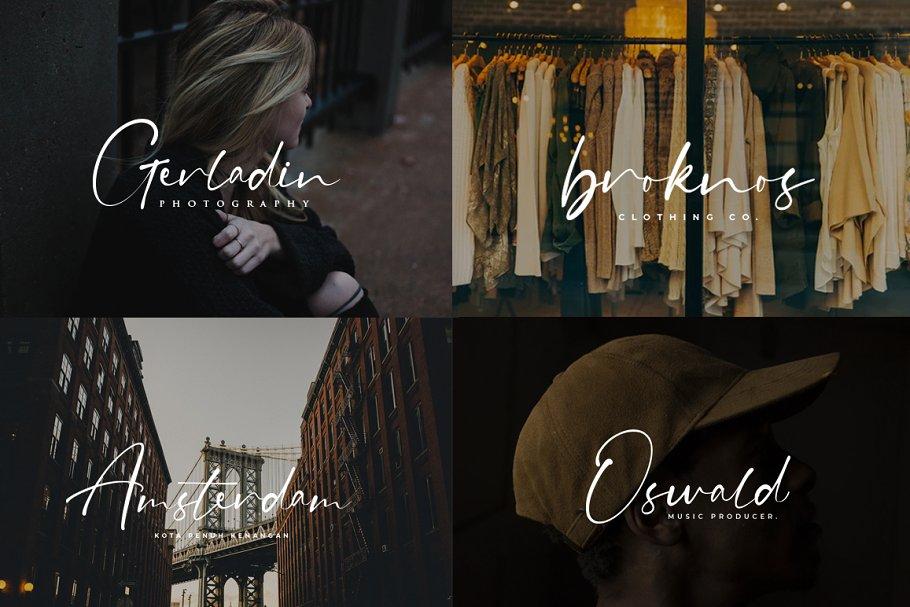 现代精美手写连字签名英文字体 Grahamo – Luxury Script插图(7)