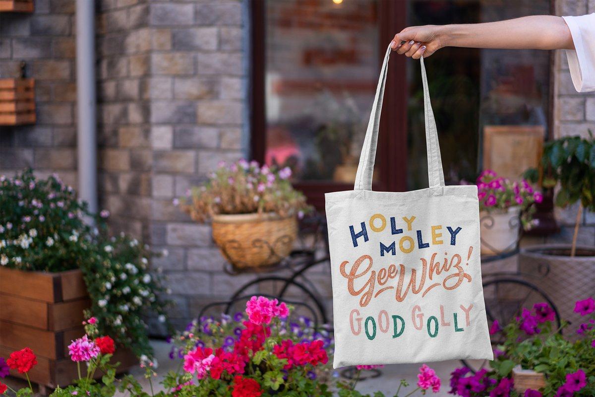 23款时尚生活方式手提帆布袋设计样机模板素材合集 Canvas Tote Bag Mockup Lifestyle插图(6)