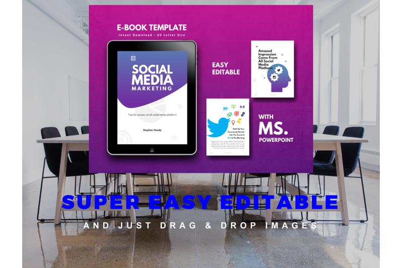 明亮简约品牌营销Instagram社交媒体素材包 Social Media Marketing eBook Template PowerPoint插图(10)