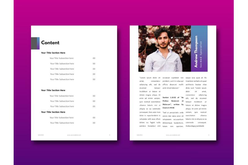 明亮简约品牌营销Instagram社交媒体素材包 Social Media Marketing eBook Template PowerPoint插图(9)