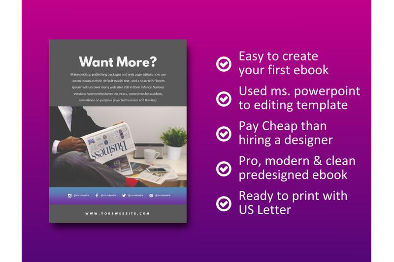 明亮简约品牌营销Instagram社交媒体素材包 Social Media Marketing eBook Template PowerPoint插图(8)