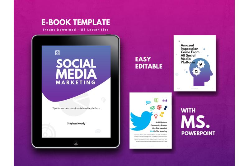 明亮简约品牌营销Instagram社交媒体素材包 Social Media Marketing eBook Template PowerPoint插图