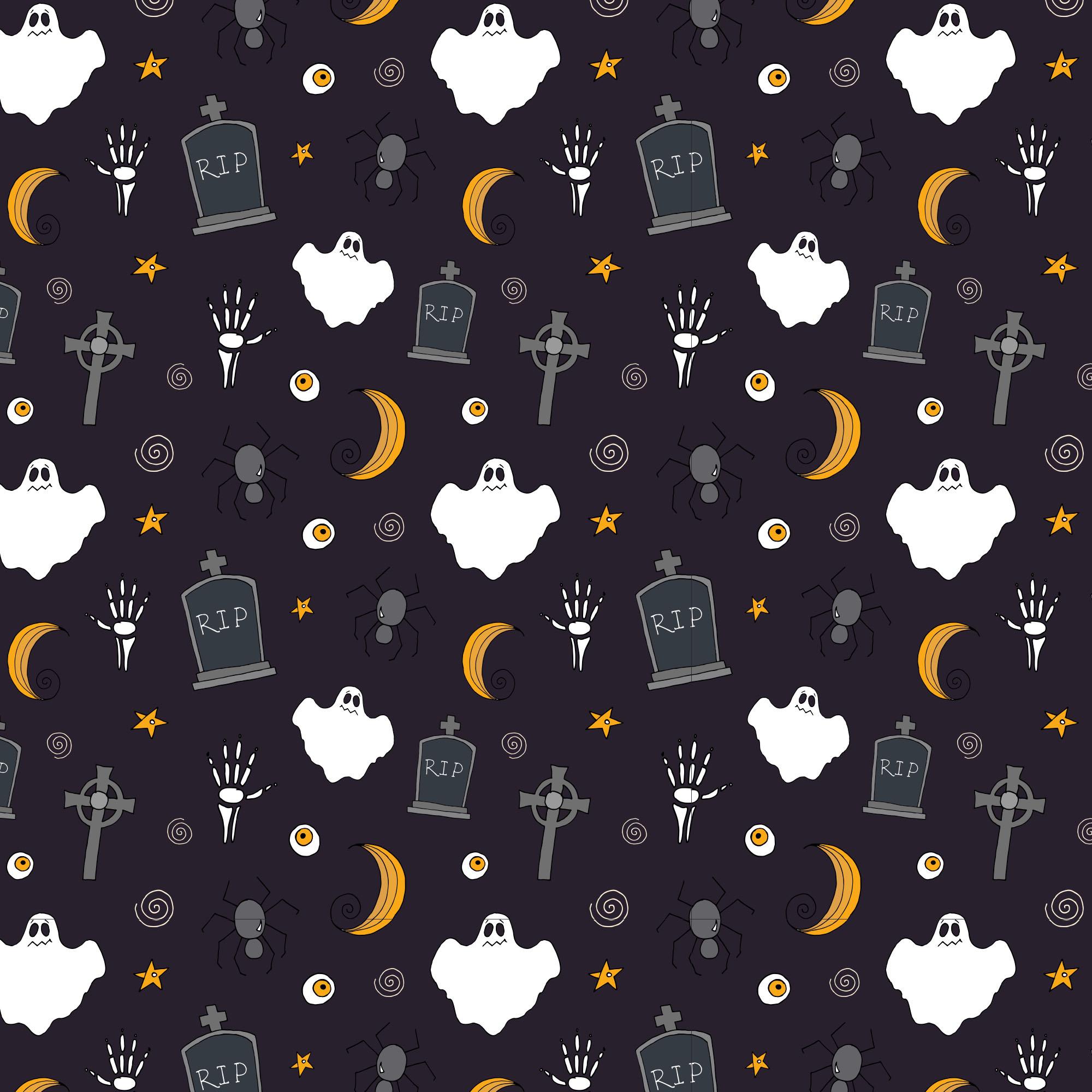可爱万圣节矢量图案平面设计素材包 Halloween Vector Elements & Patterns – Part II插图(3)