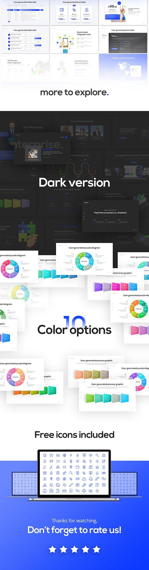 强大简约蓝色企业业务报表计划书PPT演示文稿设计模板 Enterprise Business PowerPoint Presentation Template插图(3)