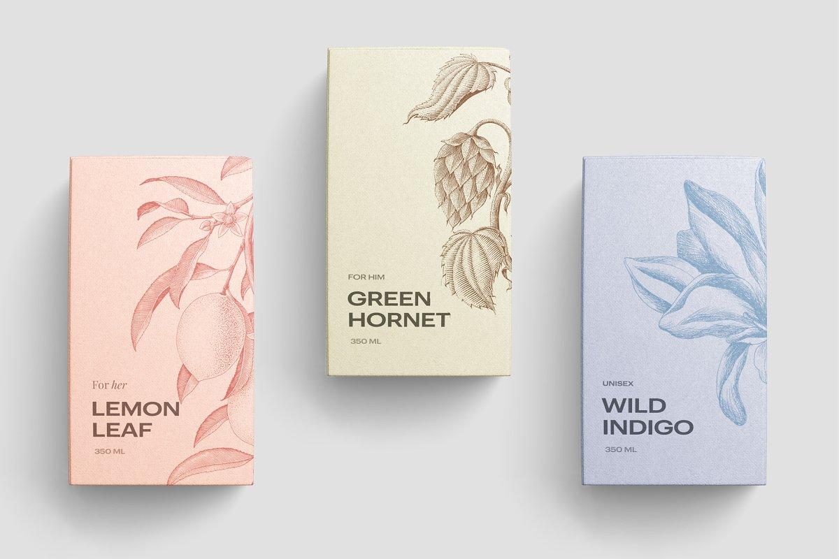 高质量方形化妆品香水包装盒设计预览图样机模板 Box Mockup Vol.3插图(9)