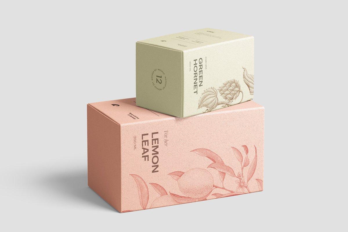 高质量方形化妆品香水包装盒设计预览图样机模板 Box Mockup Vol.3插图(11)