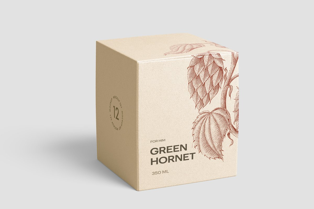 高质量方形化妆品香水包装盒设计预览图样机模板 Box Mockup Vol.3插图(2)