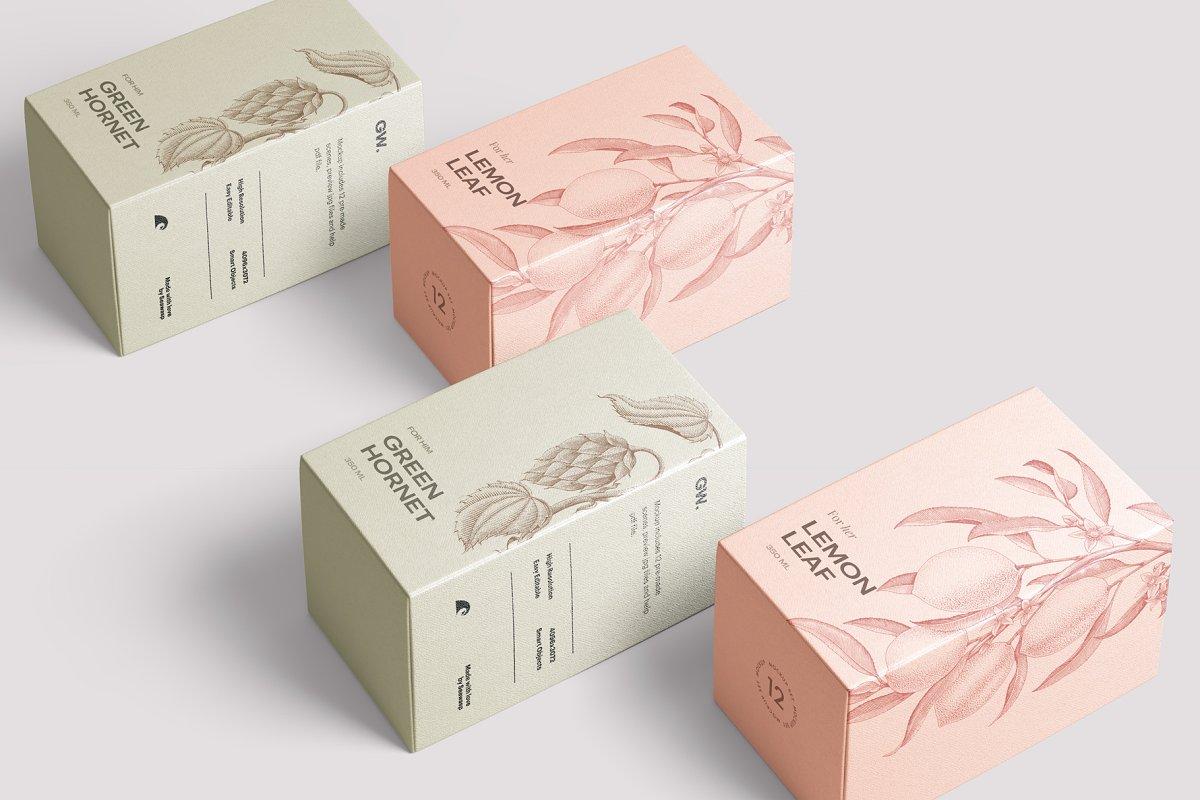 高质量方形化妆品香水包装盒设计预览图样机模板 Box Mockup Vol.3插图(8)