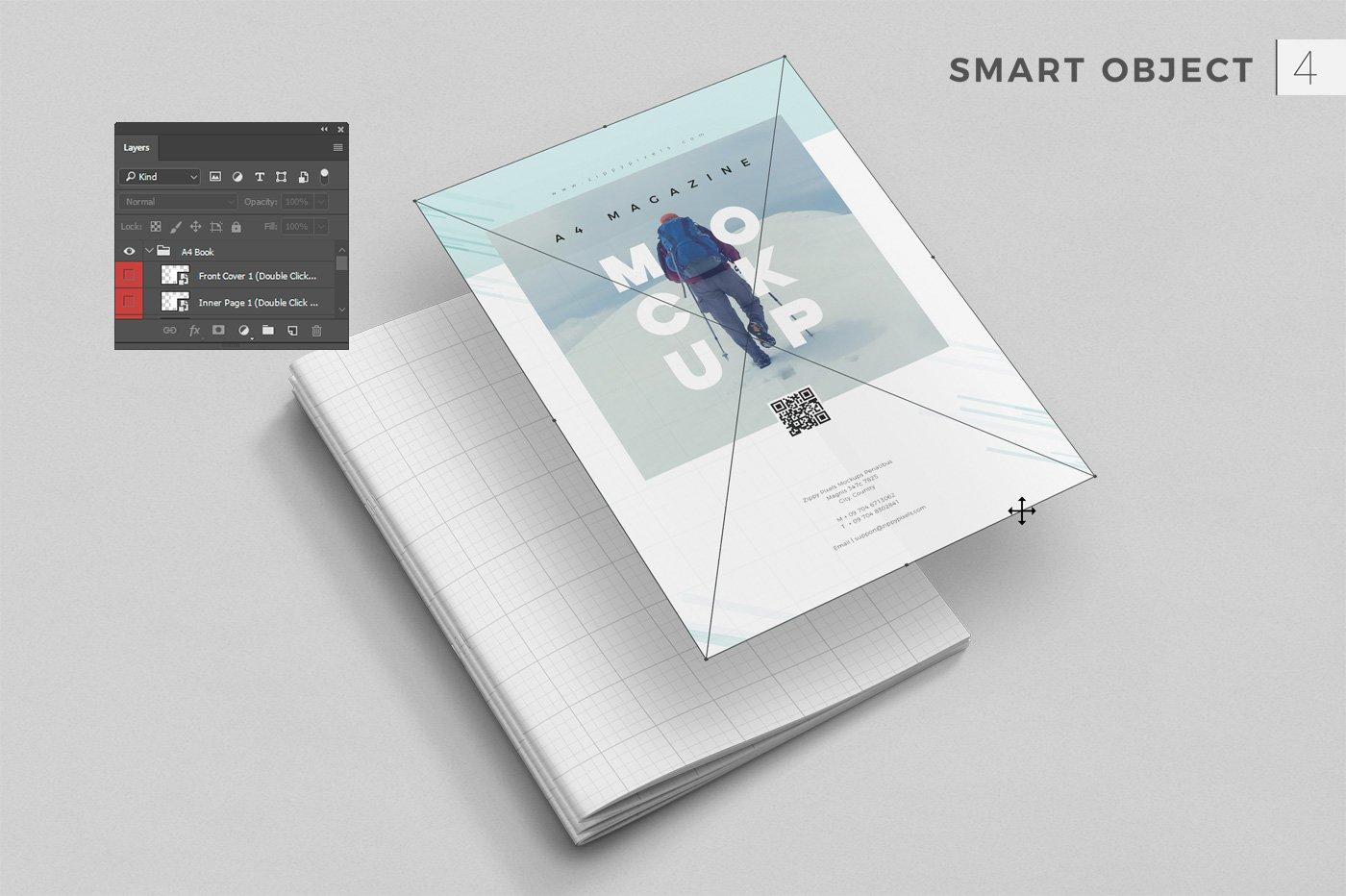 43款画册杂志设计展示效果图样机模板 43 Magazine Mockups Bundle插图(4)
