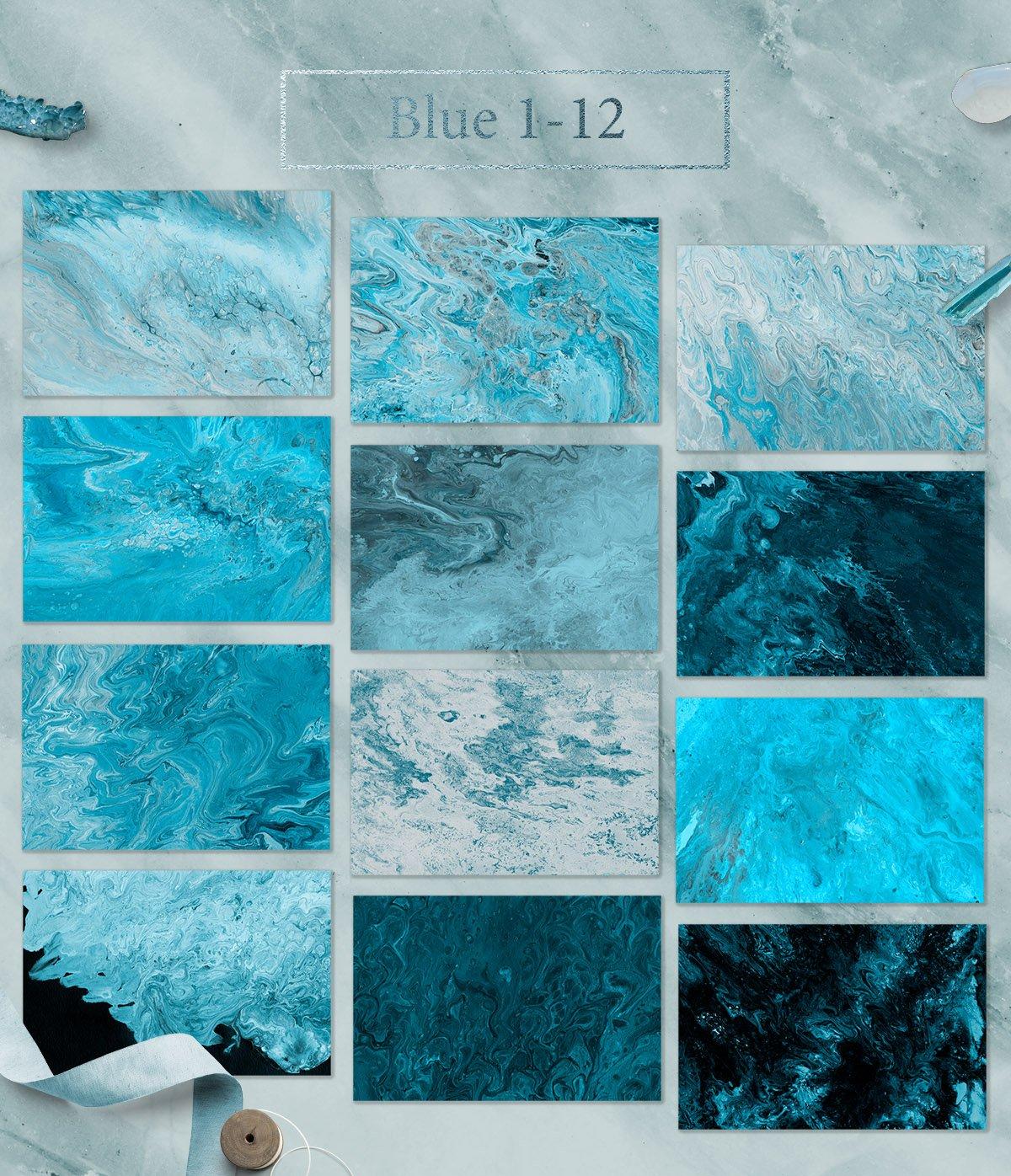 108款抽象手绘流体液体丙烯酸&大理石背景纹理 108 Flow Liquid Textures插图(3)