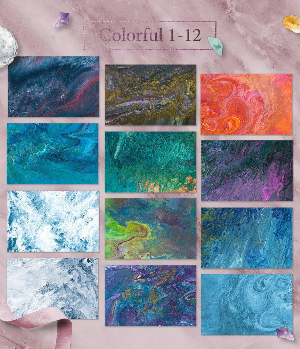 108款抽象手绘流体液体丙烯酸&大理石背景纹理 108 Flow Liquid Textures插图(4)