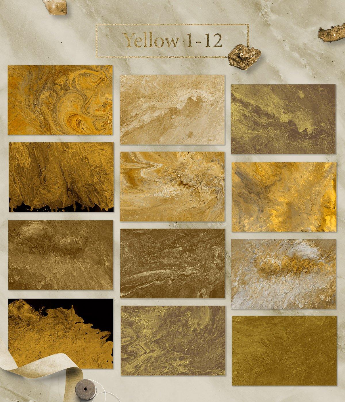 108款抽象手绘流体液体丙烯酸&大理石背景纹理 108 Flow Liquid Textures插图(6)