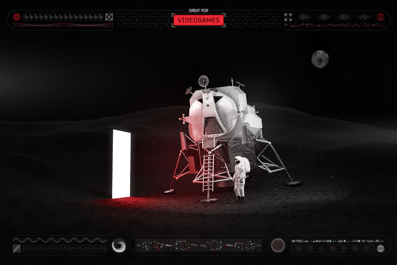 超炫酷科幻航空航天数据信息HUD仪表盘UI设计模板套件 Futuristic UI Kit • 200+ Design Elements插图(14)