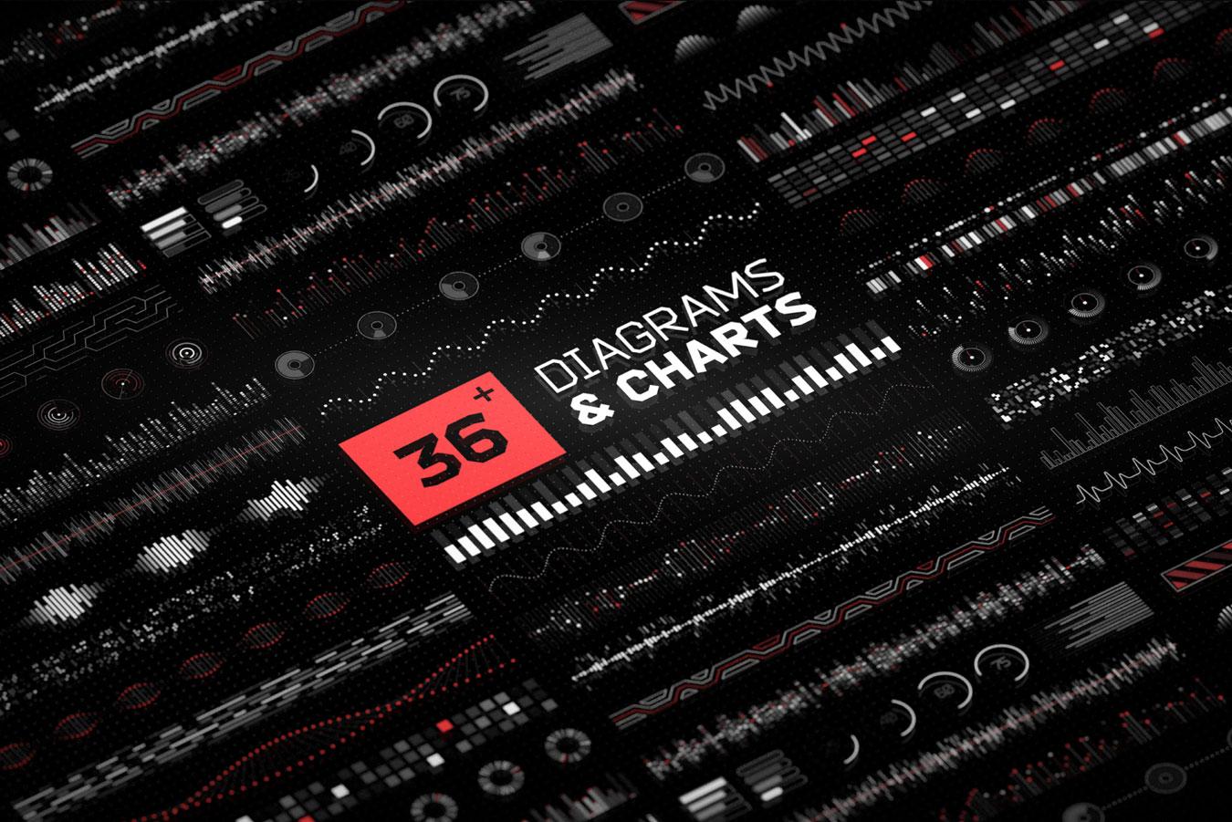 超炫酷科幻航空航天数据信息HUD仪表盘UI设计模板套件 Futuristic UI Kit • 200+ Design Elements插图(15)