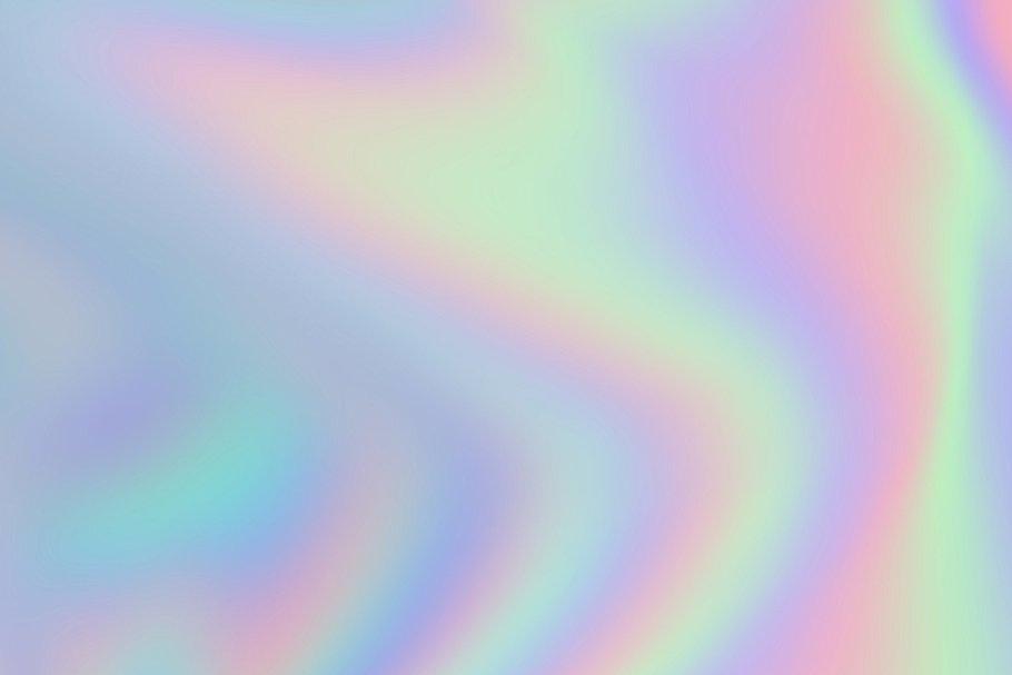 抽象彩虹色背景纹理套装 Iridescent Abstract Backgrounds插图(3)