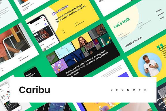 极简品牌营销项目计划书幻灯片模板设计素材 Caribu Presentation