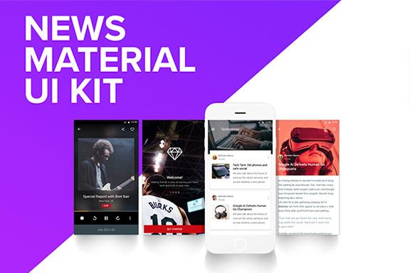 新闻媒体应用程序UI界面设计套件Sketch模板 News & Editorial UI KIT 0 44 PREVIEW