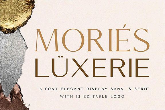 优雅无衬线粗体英文字体下载 Mories Luxerie – Elegant Font Duo