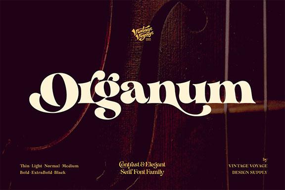 优雅手写衬线英文字体下载 Organum • Font Family • 50% OFF