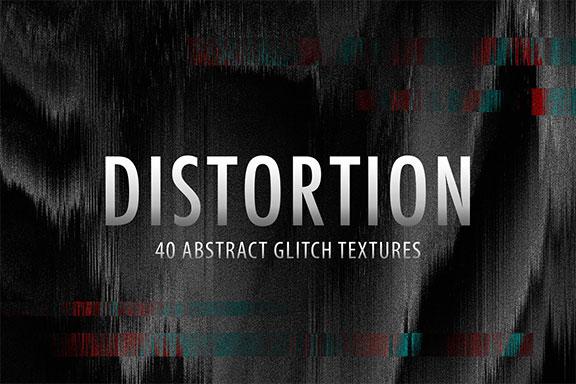40款高清抽象扭曲背景纹理设计素材合集 40 Distorted Glitch Textures
