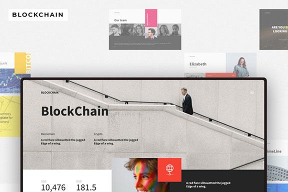 时尚高端多用途的区块链比特币大数据主题演示文稿设计模板 BLOCKCHAIN Presentation