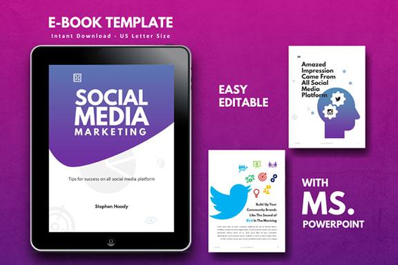 明亮简约品牌营销Instagram社交媒体素材包 Social Media Marketing eBook Template PowerPoint