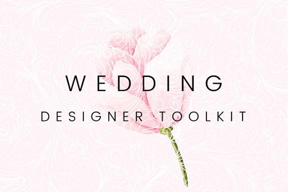 精美手绘花卉橄榄枝婚礼元素矢量素材包 The Ultimate Wedding Design Pack