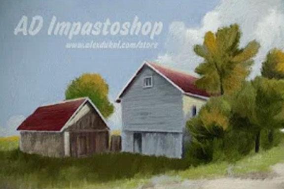 AD Impastoshop-如何在Photoshop内的逼真的厚实绘画!